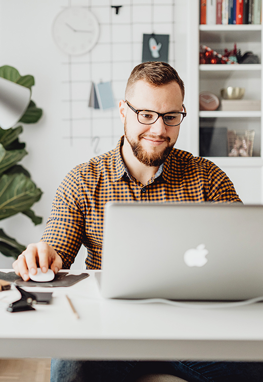 Happy business owner is learning how to manage his team